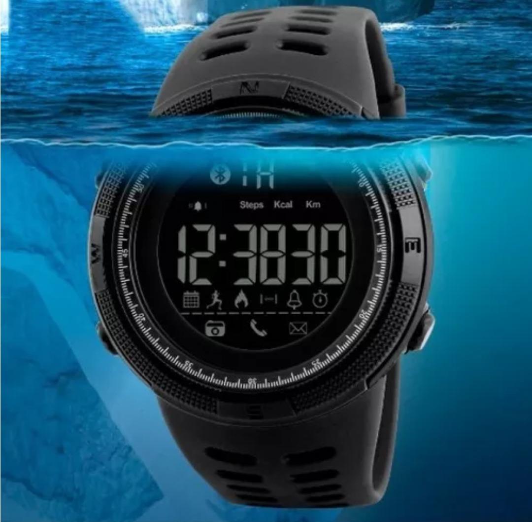 e1f90ceaa96 relógio masculino skmei 1250 bluetooth smartwatch preto. Carregando zoom.