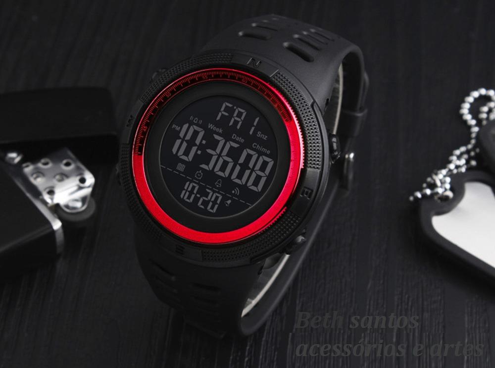 ad5dec280 Relógio Masculino Skmei 1251 Digital Esportivo. Prova ´água - R  94 ...