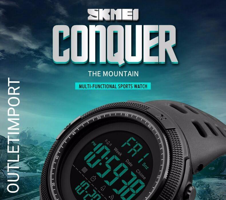 b276f5f45a Relógio Masculino Skmei 1251 Digital Esportivo Prova D´água - R$ 79,99 em  Mercado Livre