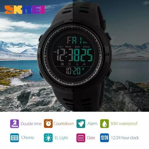 relógio masculino skmei 1251 digital esportivo. prova d´água