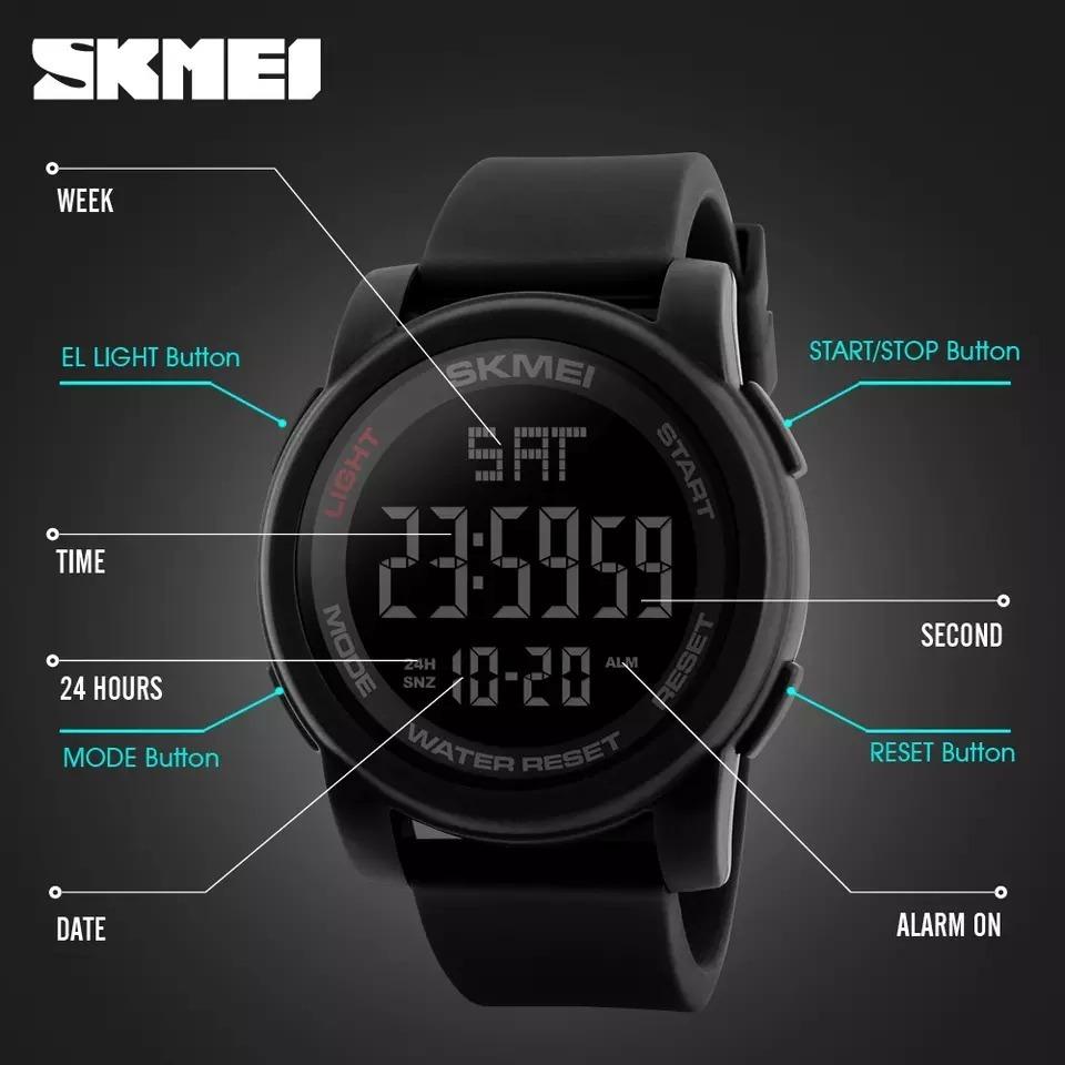 2f9c7c4401 relógio masculino skmei 1257 digital esportivo prova d´água. Carregando  zoom.