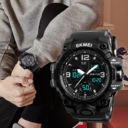 relógio masculino skmei anadigi 1155