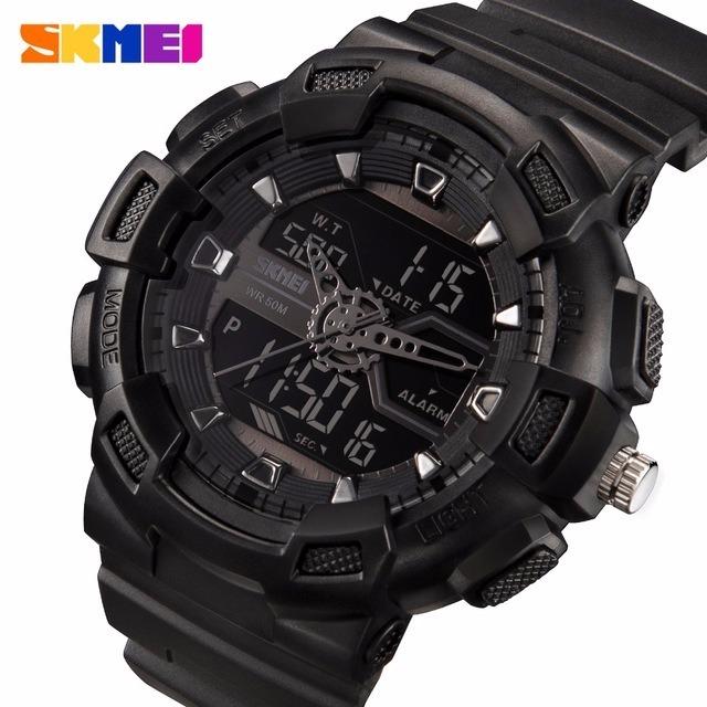 0a641cccab5 Relógio Masculino Skmei Anadigi 1189 Preto Sport Militar - R  75