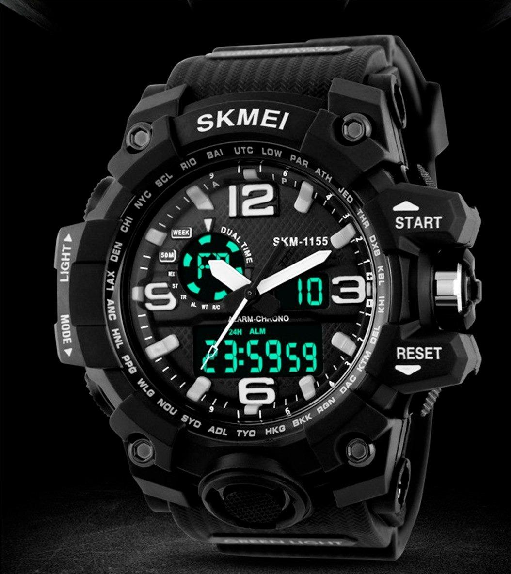 2ff99de3a81 relógio masculino skmei militar 1155 a prova dágua 50m. Carregando zoom.