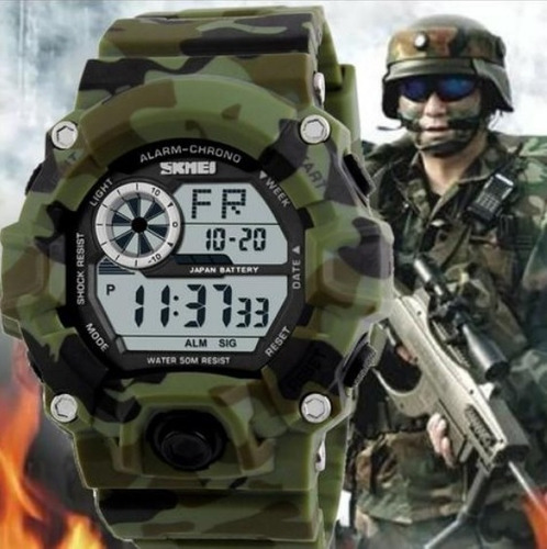 relógio masculino  skmei militar  digital a prova d'água