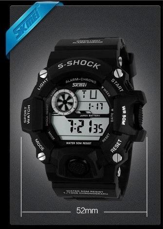 0b23b302a00 Relógio Masculino Skmei Modelo 1019 Prova D água (50 Metros) - R ...