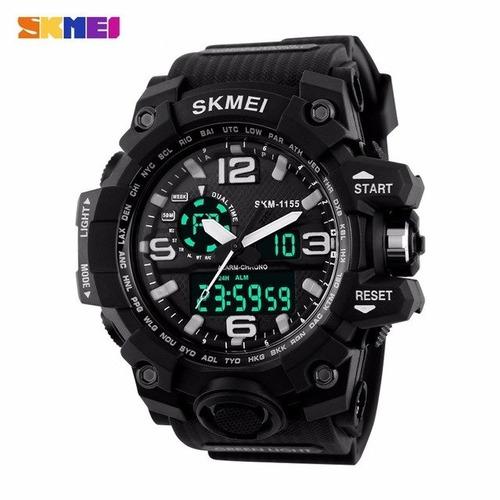 relógio masculino skmei s estilo g shock digital analógico