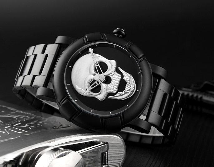 5c89881b64d Relógio Masculino Skmei Skull Crânio 3d Caveira Original - R  129