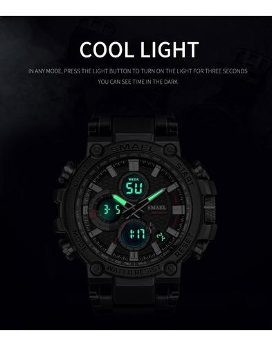 relógio masculino smael 1803 vermel \ caixa \ original \ top