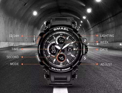 relógio masculino smael militar 1708 à prova d'água digital