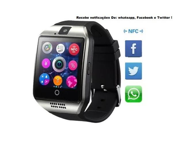 89f30140eaa Relógio Masculino Smartwatch Bluetoth Q18 Chip Android S4 S5 - R ...