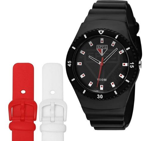 relógio masculino são paulo  technos esportivo sao2035ag/8p