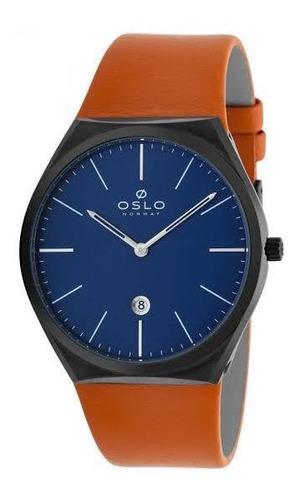 relogio masculino social azul couro oslo omyscs9u0001 d1ox