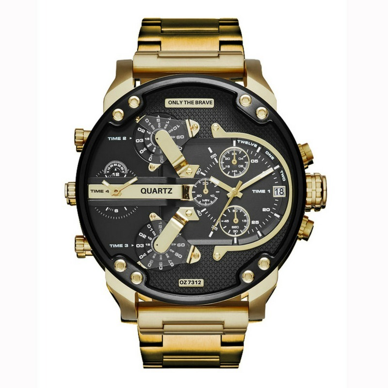 a24476ad106 relógio masculino social barato analogico dourado luxo sport. Carregando  zoom.