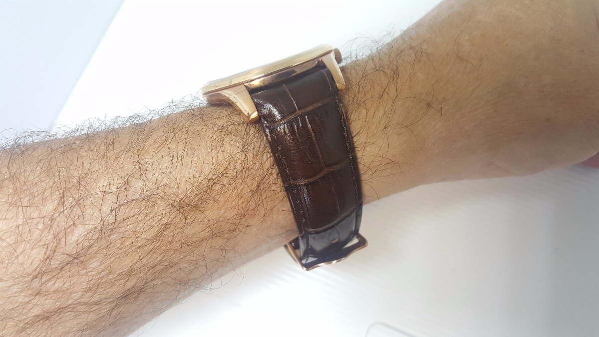 880f5467dff relógio masculino social couro marrom analógico data orient. Carregando zoom .