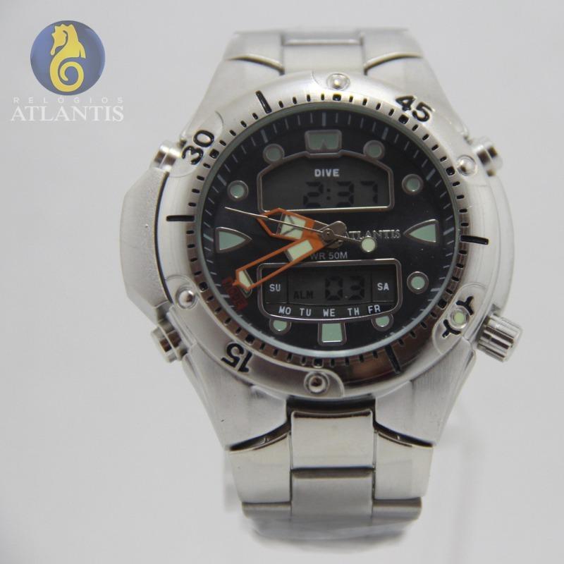 17cbd6cba87 relógio masculino social cromado prata quartz digital barato. Carregando  zoom.