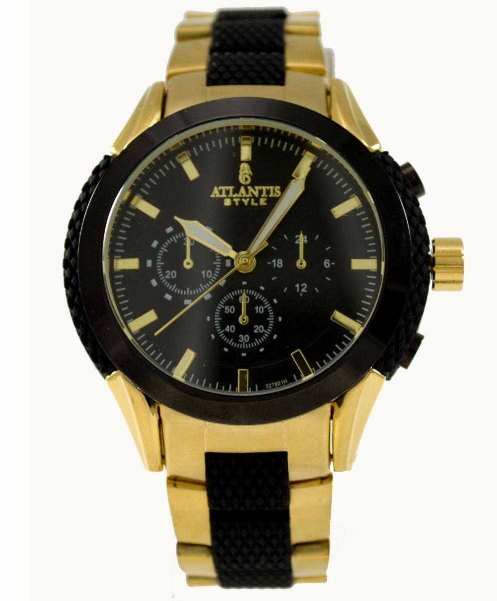 e39b6908798 relógio masculino social dourado marca atlantis original. Carregando zoom.
