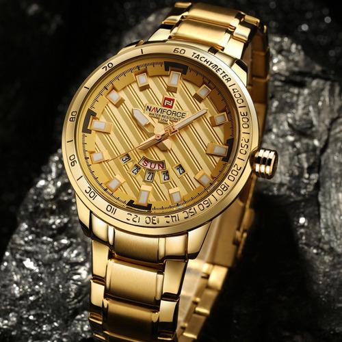relógio masculino social luxuoso aço inoxidável esportivo