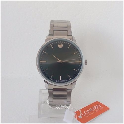 relógio masculino social original longbo quartz aço inox vip