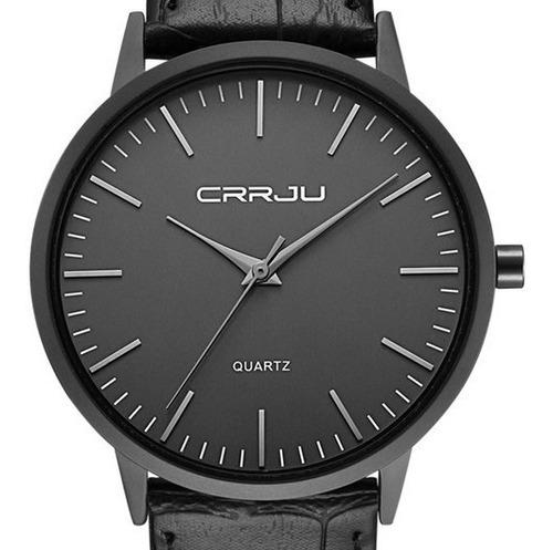 relógio masculino social ultra fino de luxo preto analógico