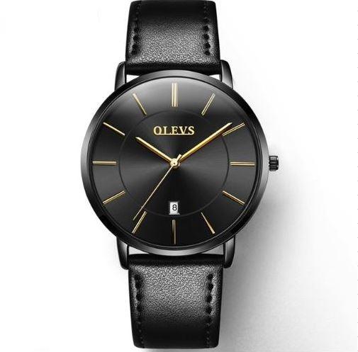 a9a1d3bda72 Relógio Masculino Social Ultrafino Pulseira Couro - Preto - R  139 ...