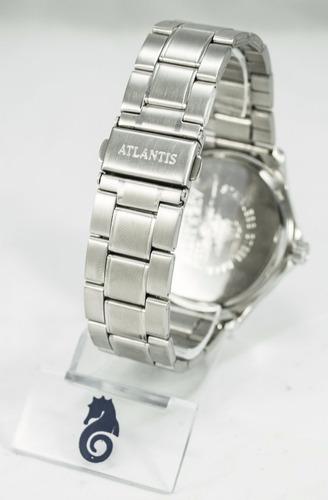 relógio masculino  social unisex atlantis original prata