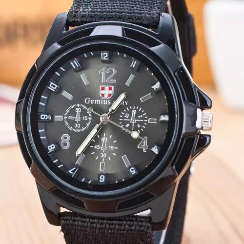 relógio masculino soldado militar pulseira nylonpromoção