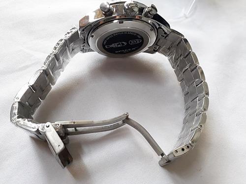 relógio masculino space x cal 1887 automático 100% funcional