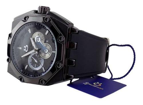 relógio masculino spaceman analógico ros13 c/ caixa