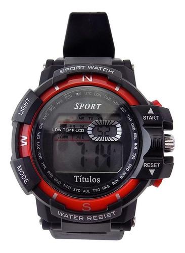 relógio masculino spaceman digital ross93