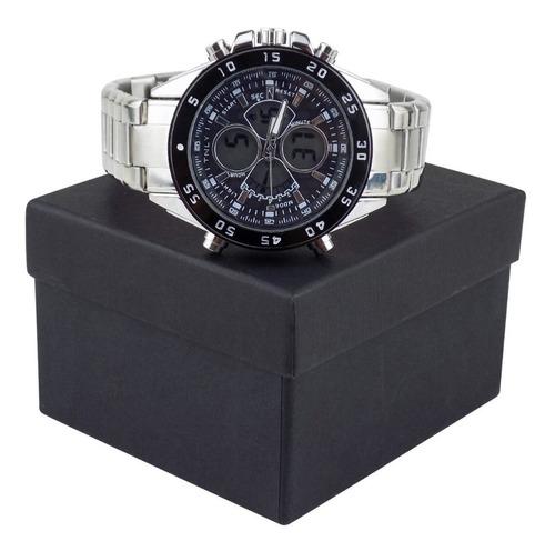 relógio masculino spaceman orizom analógico + caixa rospd24