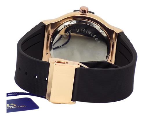 relógio masculino spaceman orizom analógico + caixa rsb3