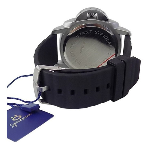 relógio masculino spaceman orizom analógico + caixa rsm20