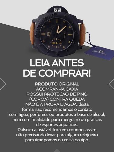 relógio masculino spaceman orizom analógico + caixa rsm21