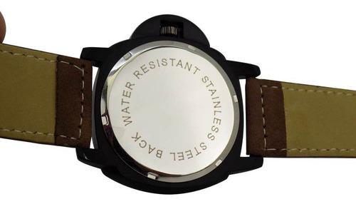 relógio masculino spaceman orizom analógico + caixa rsm4