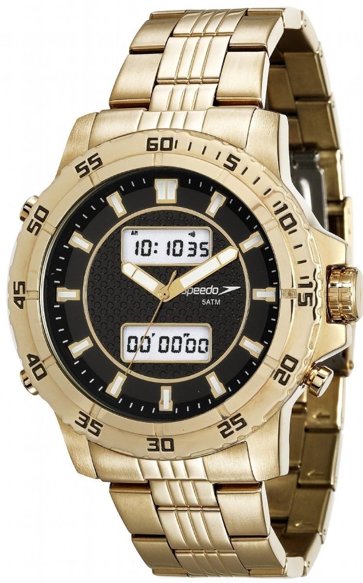 2fef9464518 relógio masculino speedo 24857gpevde1 analdigi dourado. Carregando zoom.