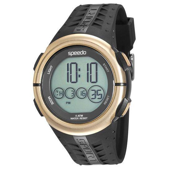 6cfae6e903a Relógio Masculino Speedo Preto Dourado Digital 81144g0evnp1 - R  159 ...