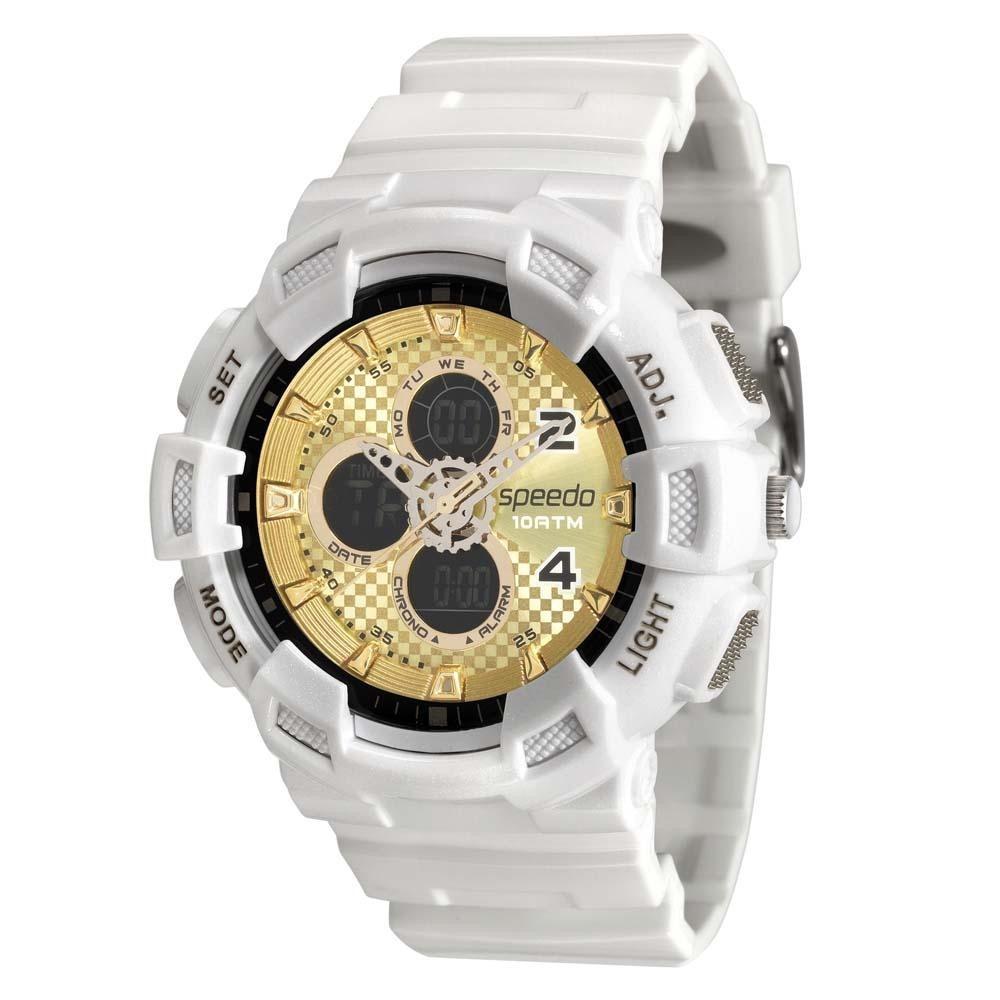 relógio masculino speedo branco dourado estilo g-shock. Carregando zoom. 106e8bdb9bf