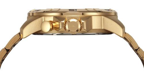 relógio masculino speedo dourado digital analógico esportivo grande pesado prova d'água original 15002gpevds1 + n.fiscal