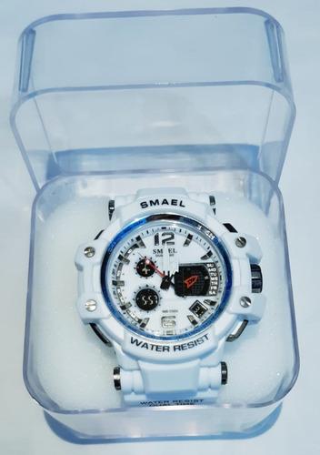 relógio masculino sport smael shock original branco promoção