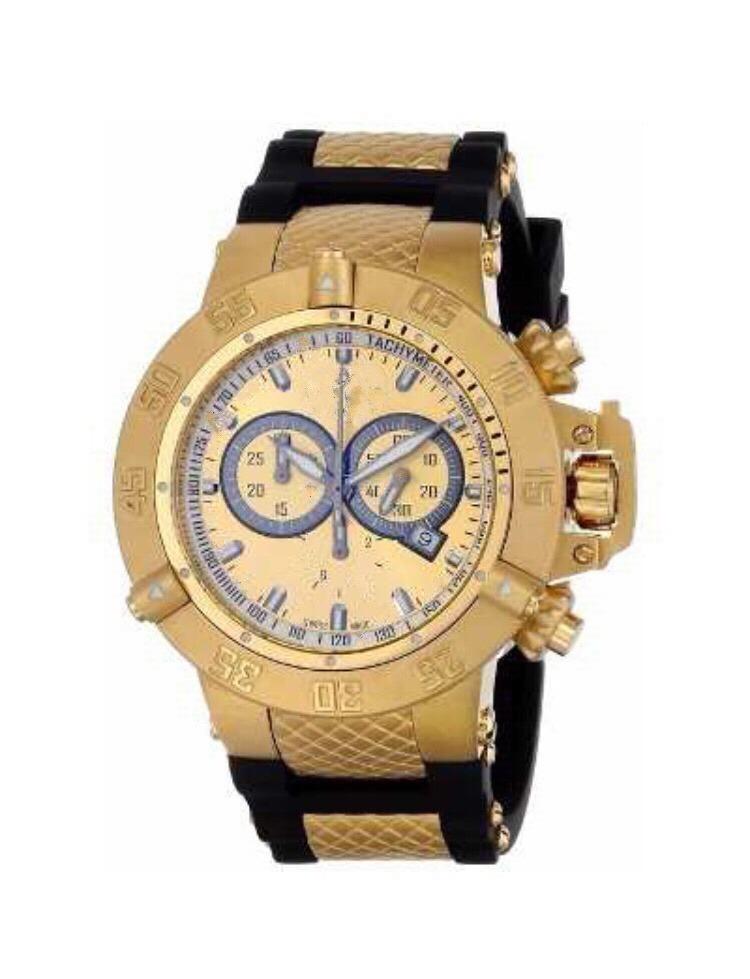 5fc38af762a Relógio Masculino Suba Dourado Pesado Top Banhado A Ouro - R  99