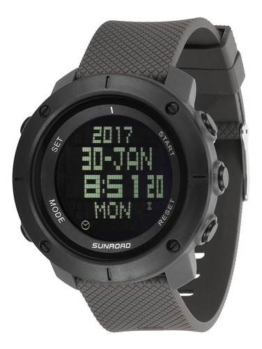 relógio masculino sunroad à prova d'água, cronômetro...