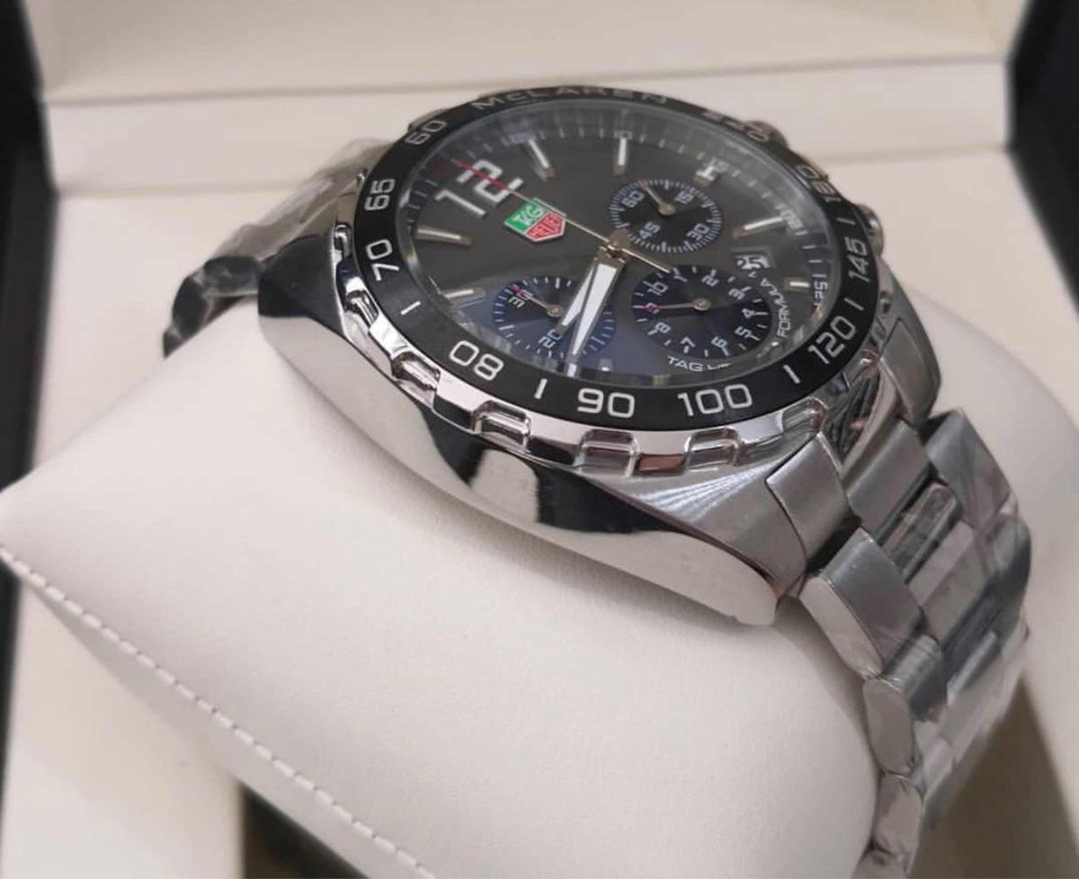 47bef2cd707 Relógio Masculino Tag Mclaren Mostrador Cinza - R  399
