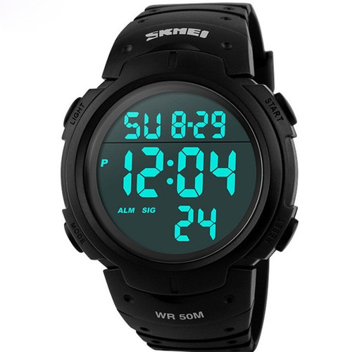 relógio masculino tático militar esportivo skmei digital top