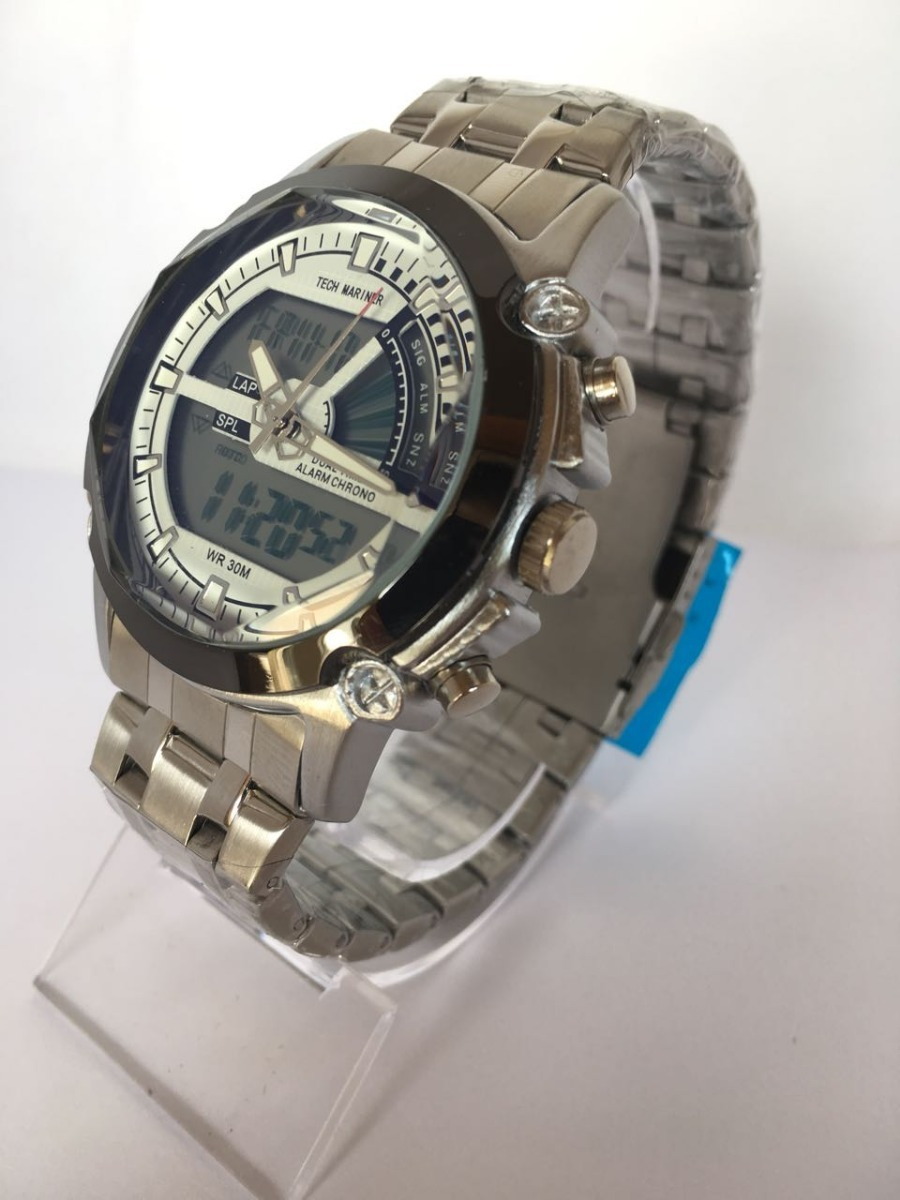 e56a9513cdd Relógio Masculino Tech Mariner A Prova D água Dual Time - R  120