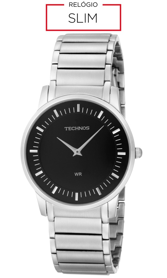 c362ae0c6344b Relógio Masculino Technos Analógico Slim Gl20ah 1p Prata - R  519,99 ...