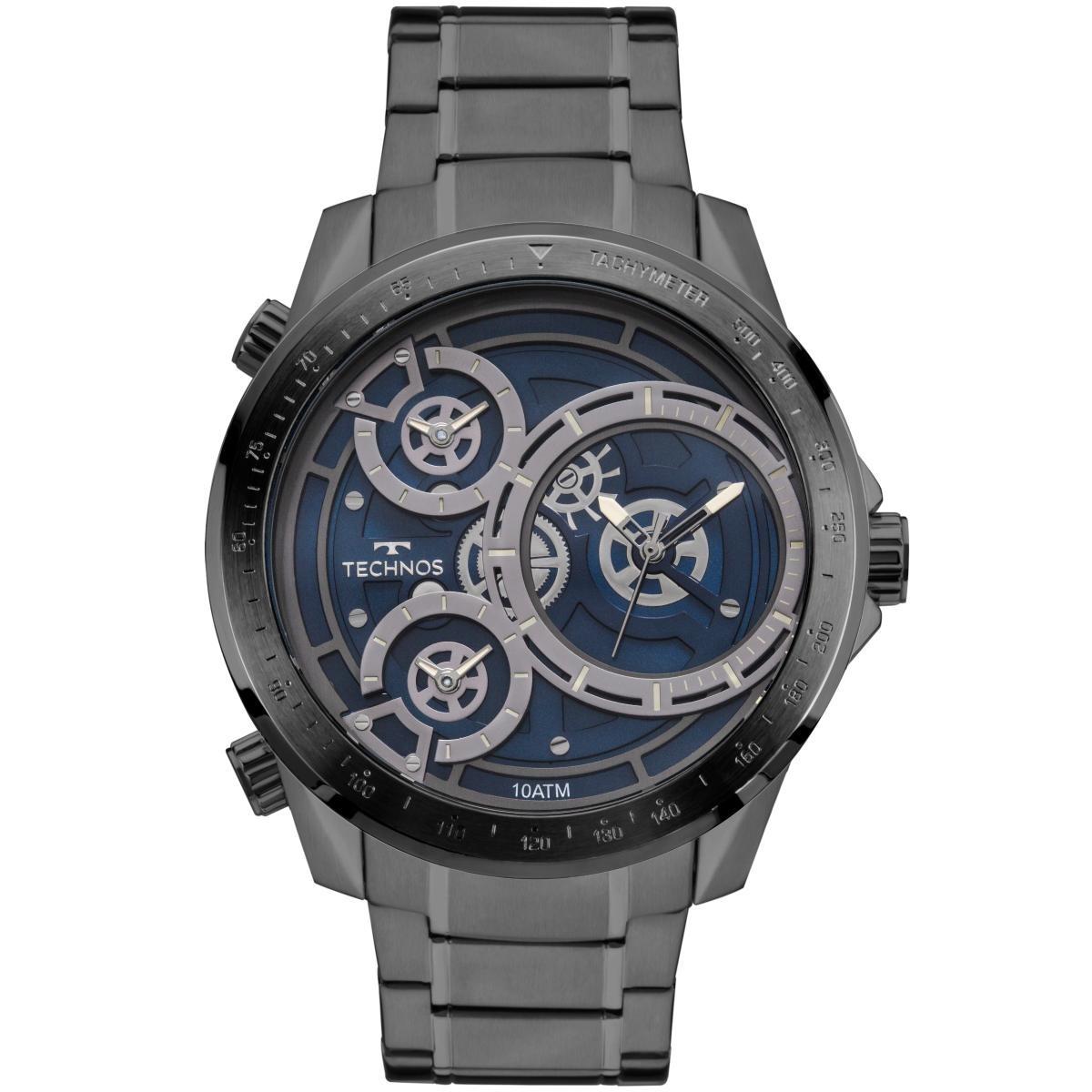fbdd124f1c3 Relógio Masculino Technos Legacy 2035mlb 4a Aço Chumbo - R  483
