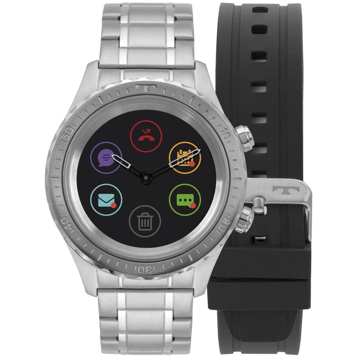 52b0eaa563c63 Relógio Masculino Technos Connect Smartwatch P01aa 1p Prata - R ...