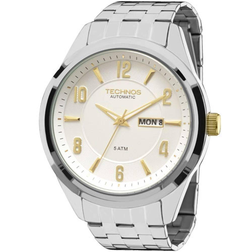 753eda51caab0 Relógio Masculino Technos 8205nj 3k Automático Prata - R  499
