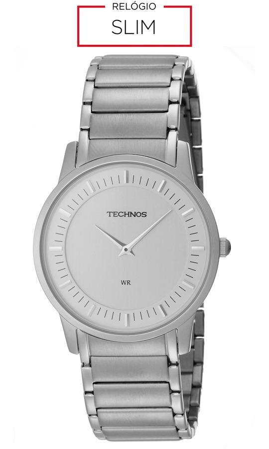 Relógio Masculino Technos Analógico Slim Gl20ah 1k Prata - R  520,00 ... 80e167c428